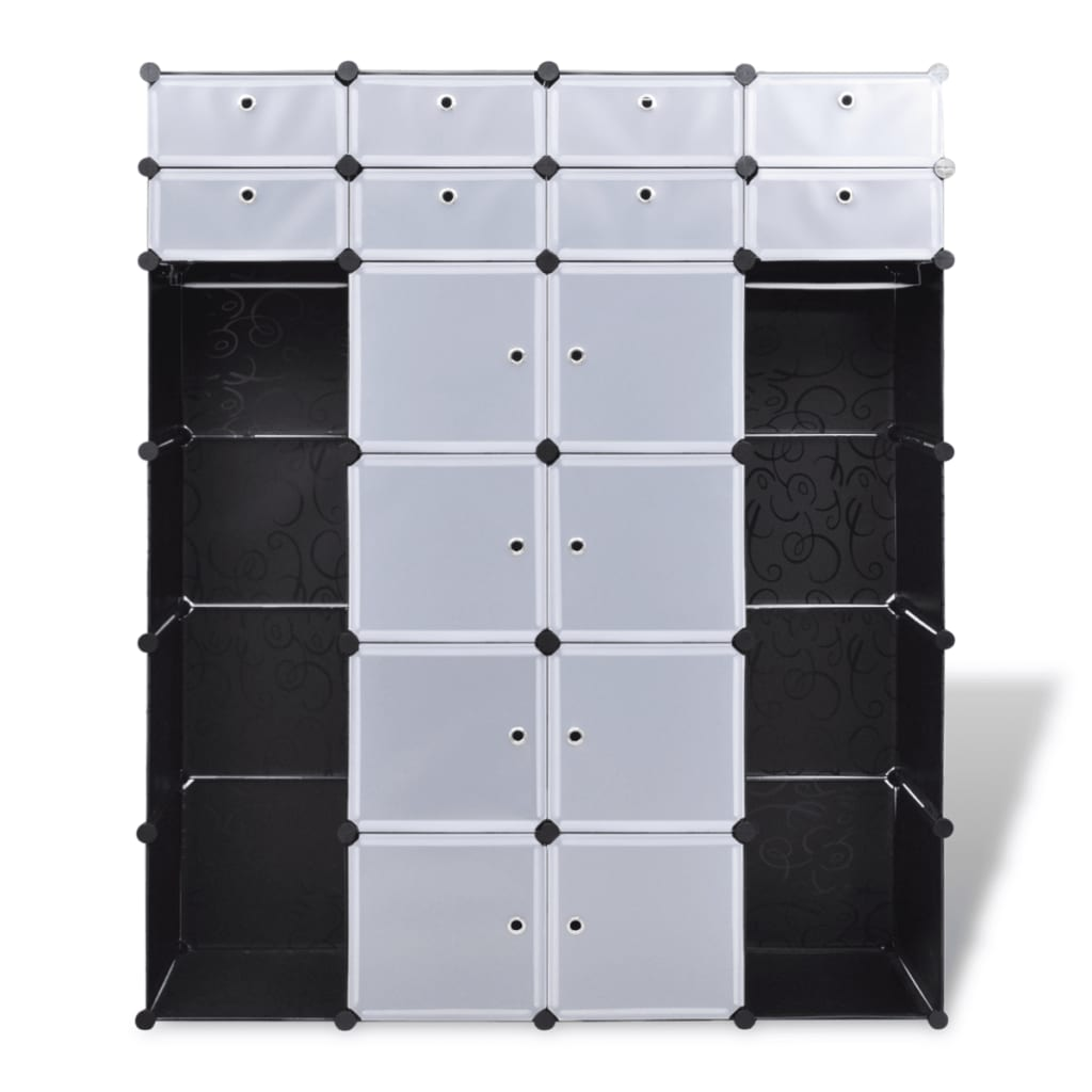 vidaxl schuhregal kleiderschrank aufbewahrung garderobe 24 f cher 37x146x180 5cm ebay. Black Bedroom Furniture Sets. Home Design Ideas