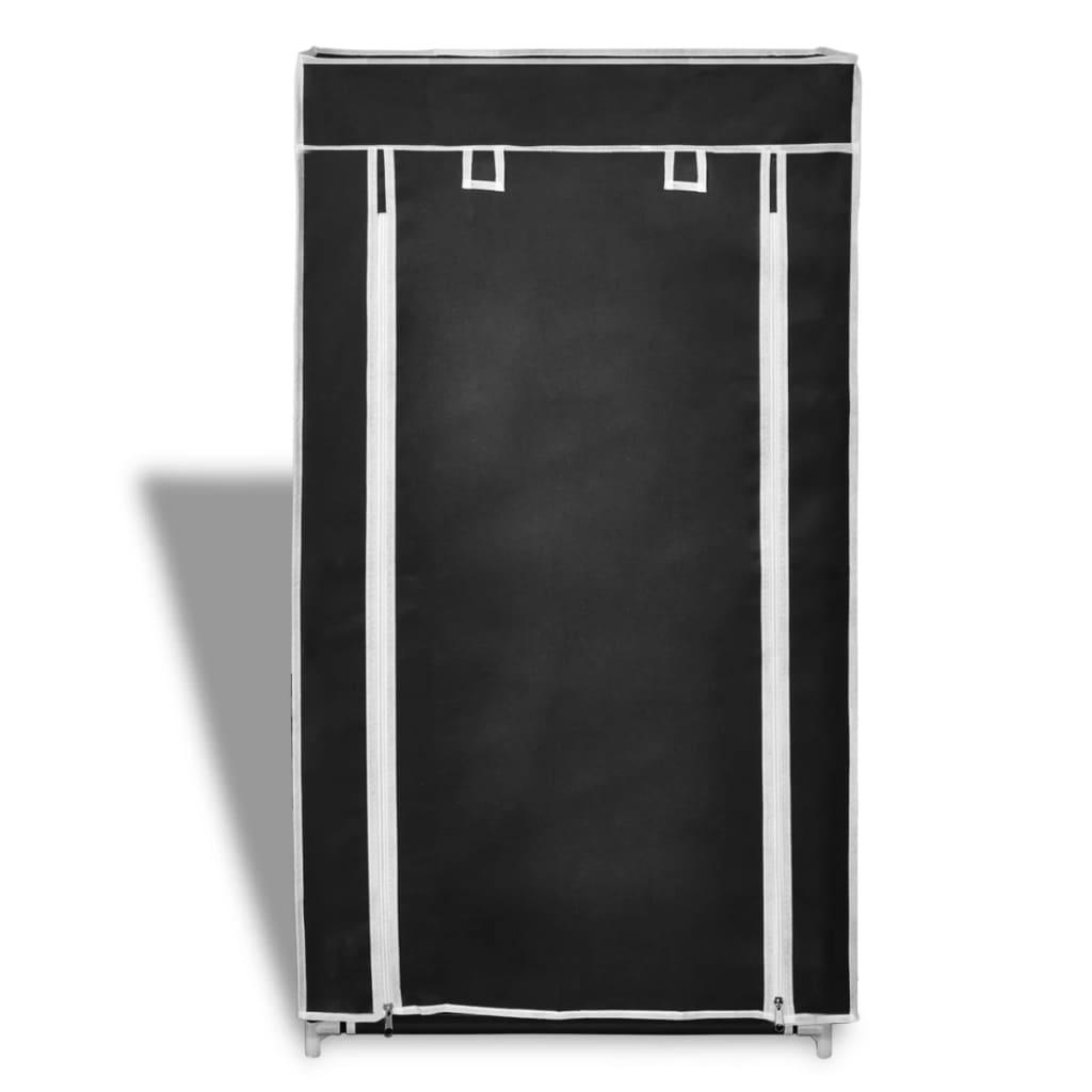 Gabinete de zapatos de tela con cubierta 58x28x106 cm for Zapatero de tela barato