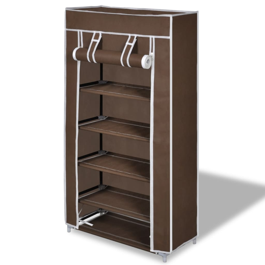 vidaxl-fabric-shoe-cabinet-with-cover-58-x-28-106-cm-brown
