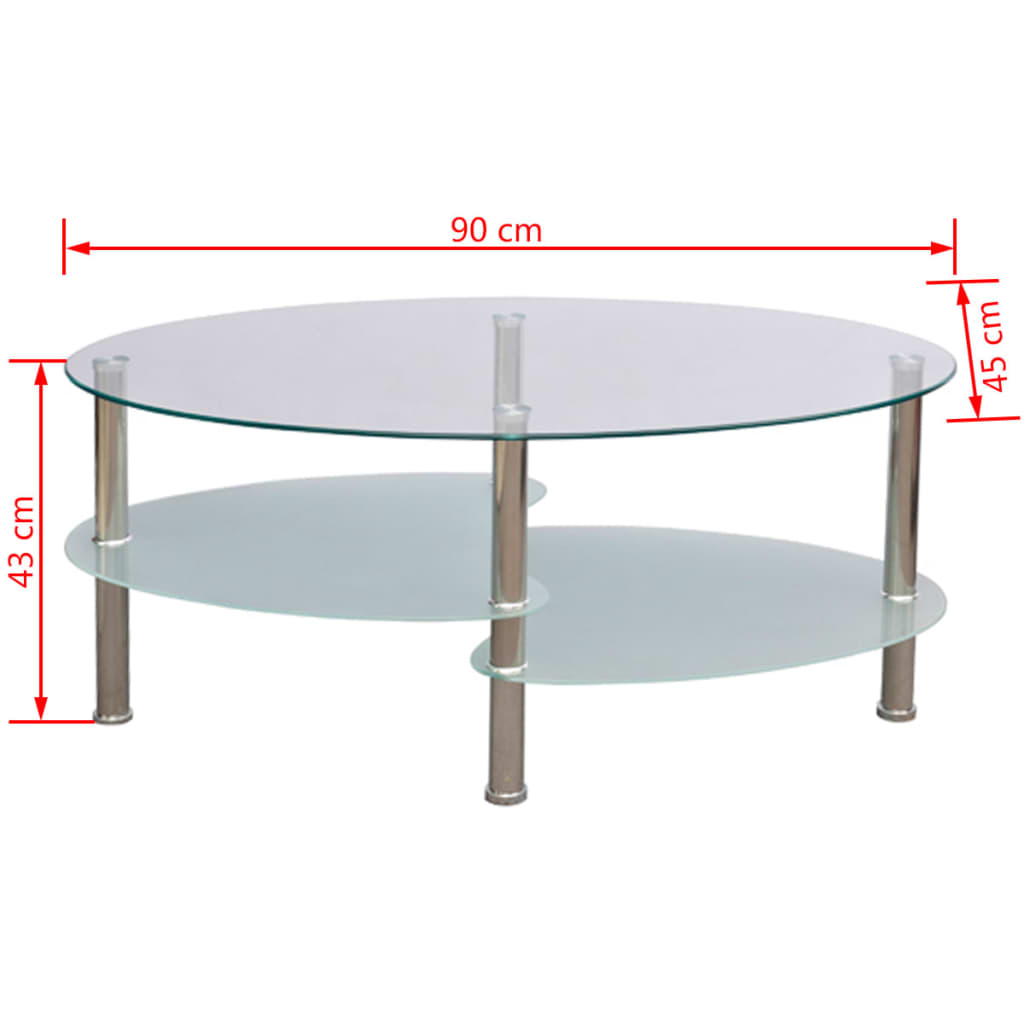 Coffee Table Exclusive 3 Layer Design White