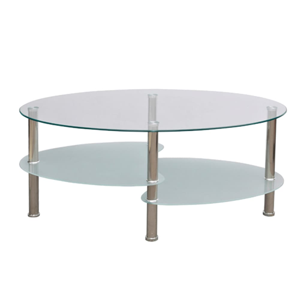 La boutique en ligne table de salon table basse blanche barcelone - Set de table ovale ...