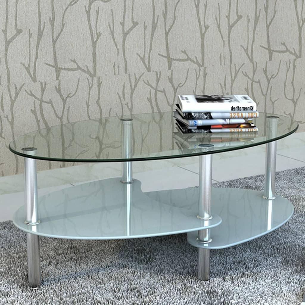 vidaXL Eksklusivt glas sofabord - Hvid