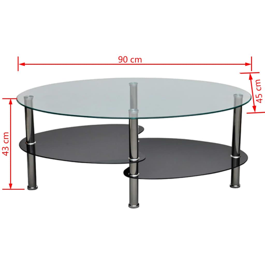 vidaXL-Tavolino-da-salotto-tavolino-in-vetro-basso-ufficio-riviste-elegante-nero