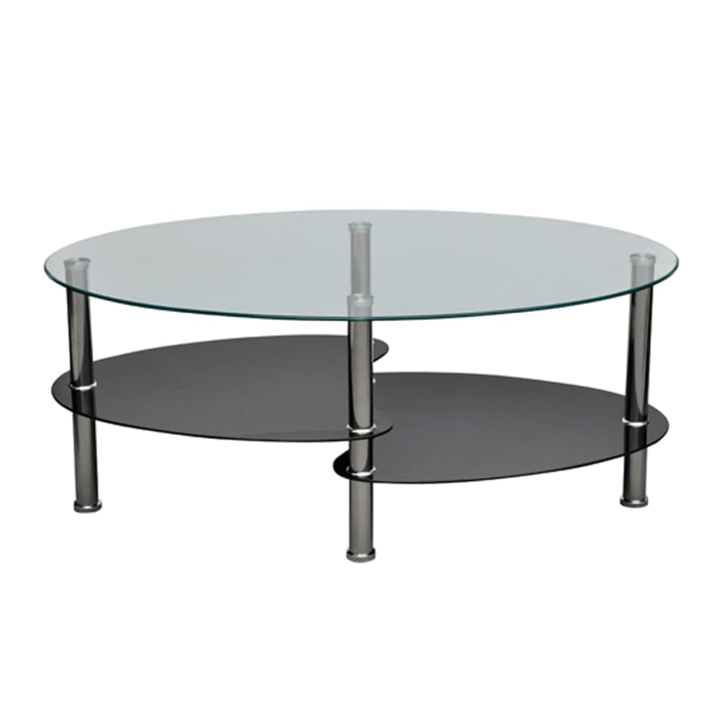 La boutique en ligne table de salon table basse noire for Table de salon transparente