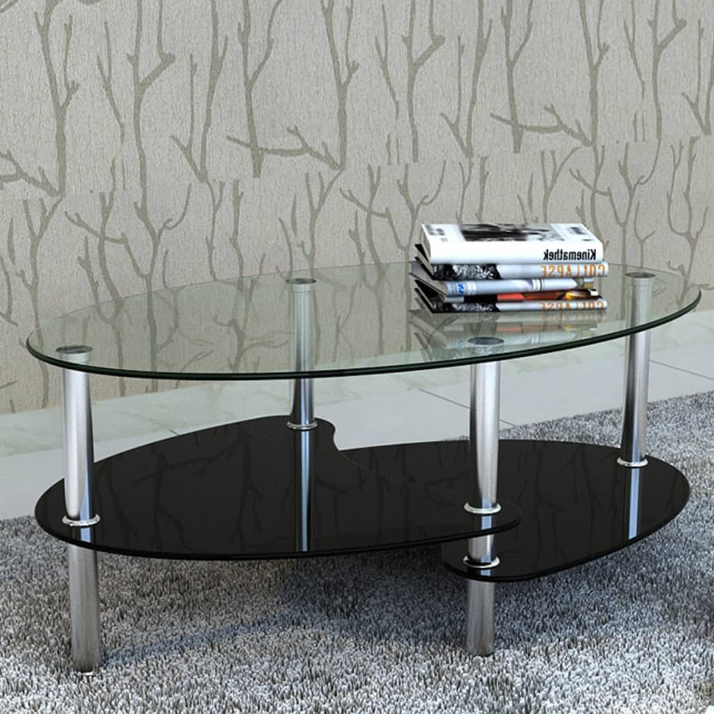Table de salon table basse barcelone verre tremp avec - Table salon verre trempe ...