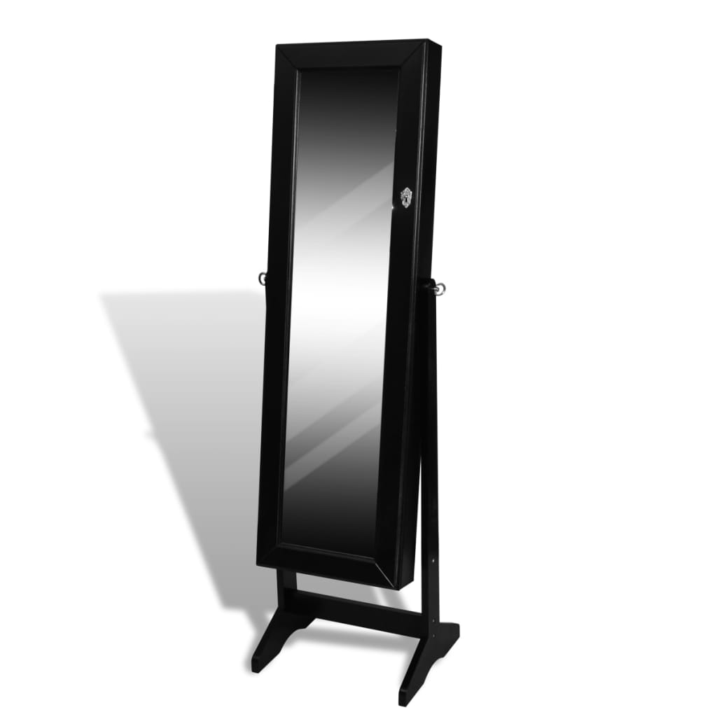 New free standing mirror jewellery cabinet wardrobe white for White long standing mirror