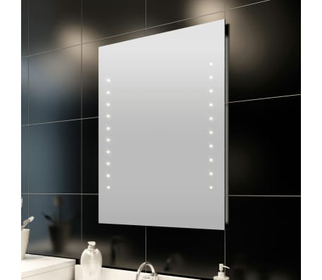 Espejo del ba o con luces de led en pared 50 x 60 cm - Luces para espejos de bano ...