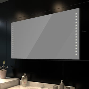 Bath mirror with led lights wall 100 x 60 cm for Miroir 60 x 100