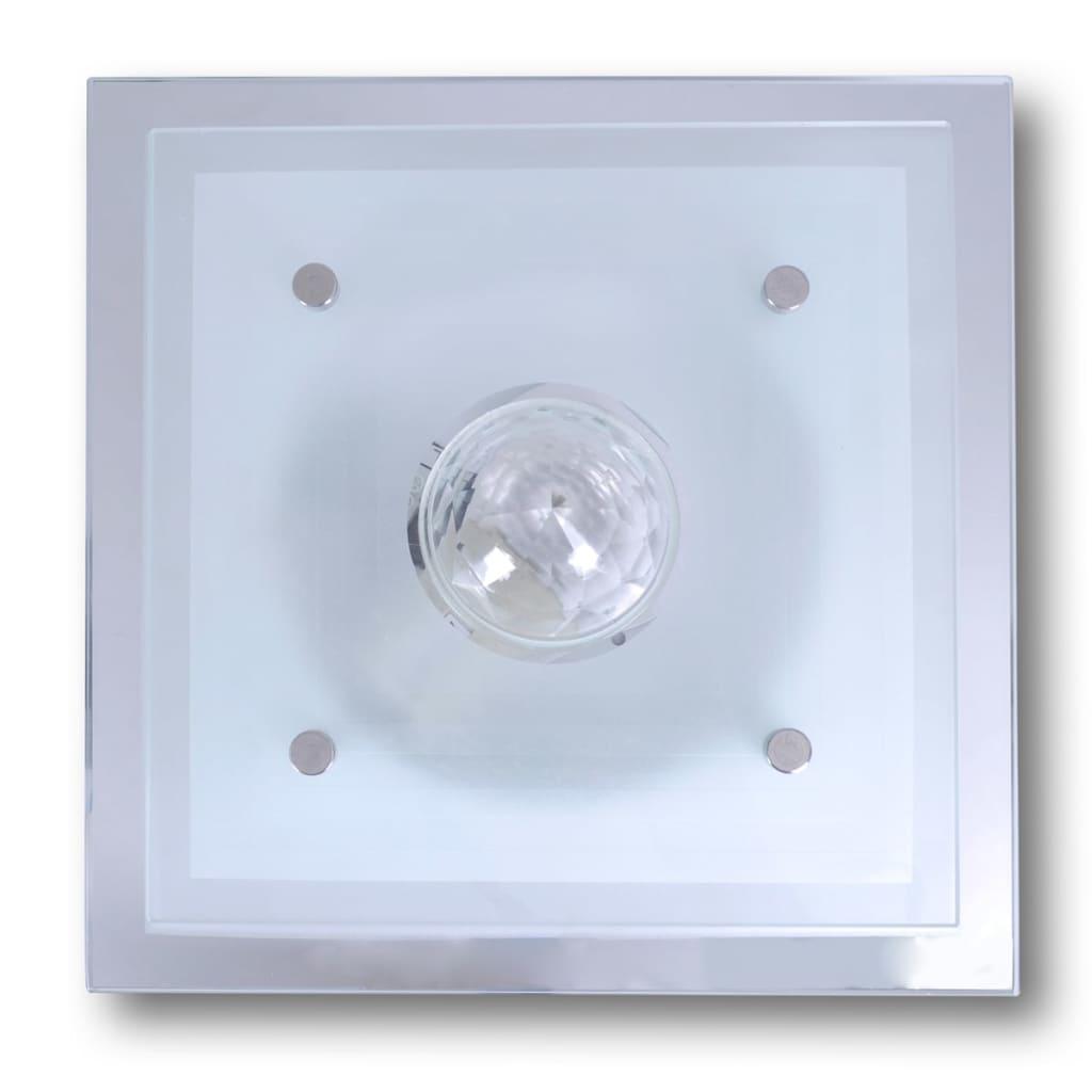 Taklampa glas fyrkant E27[3/6]