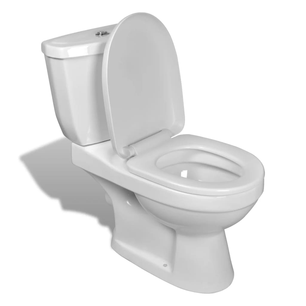 vidaXL Toilet With Cistern White
