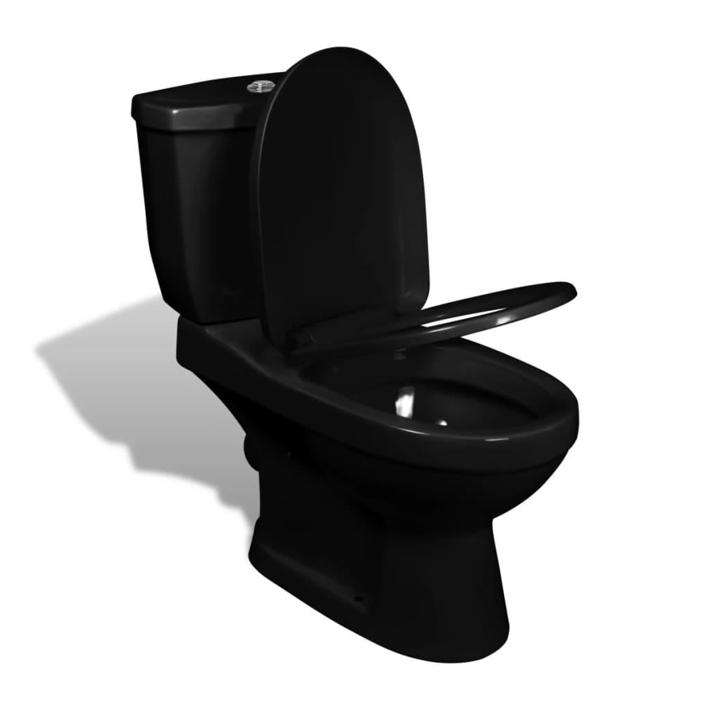 stand toilette wc bodenstehend keramik schwarz g nstig kaufen. Black Bedroom Furniture Sets. Home Design Ideas