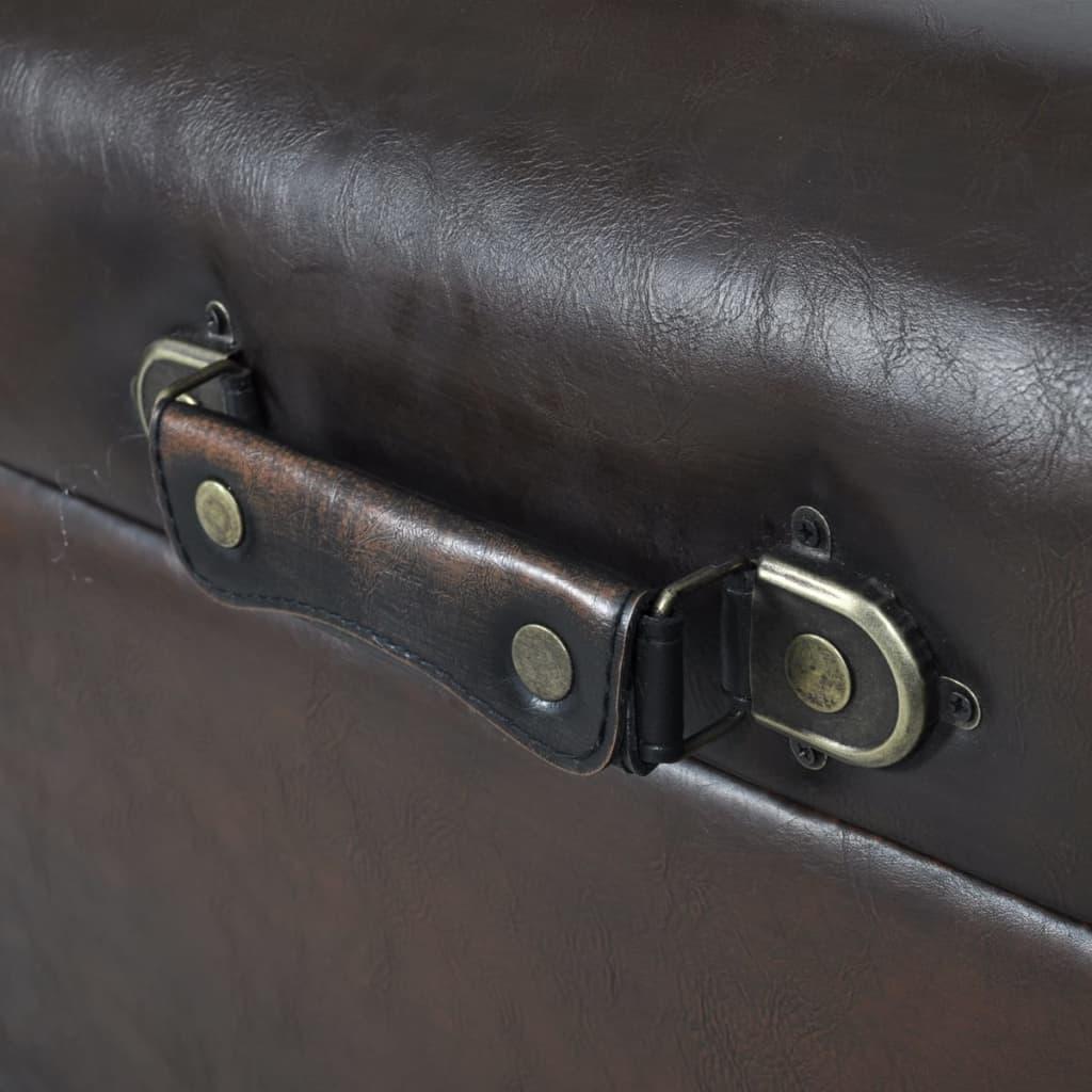 ... 3 Tlg. Sitztruhe Sitzbank Aufbewahrungstruhe Sitzhocker Sitzset Braun[3/11]  ...