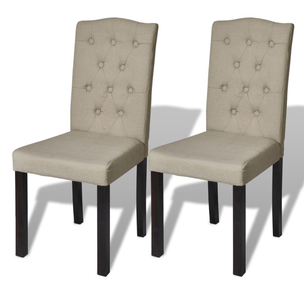 Acheter lot de 2 chaises de salle manger salon beige pas for Acheter des chaises de salle a manger