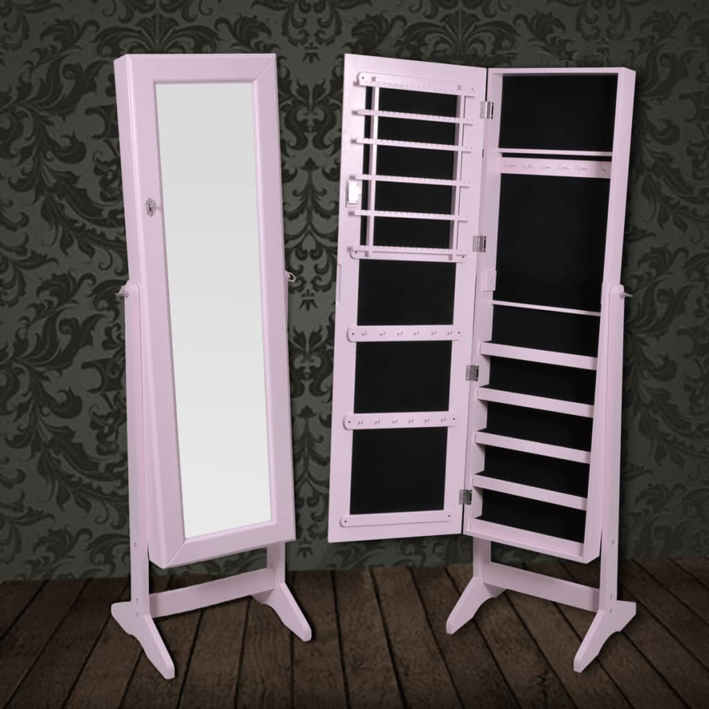 la boutique en ligne armoire bijoux rangement miroir meuble chambre rose. Black Bedroom Furniture Sets. Home Design Ideas