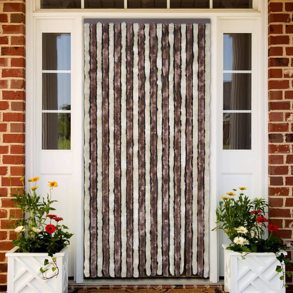 Image Is Loading Insect Curtain 90 X 220 Cm Brown Beige