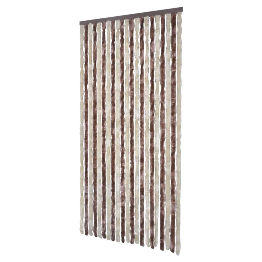 vidaXL-Cortina-de-insectos-100x220cm-Marron-Beige-Cortina-puerta-contra-insectos