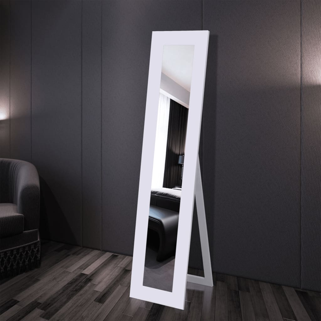 free standing mirror full length white. Black Bedroom Furniture Sets. Home Design Ideas