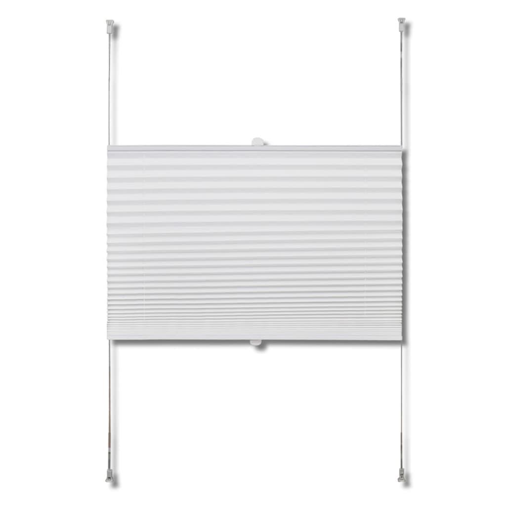 plissee faltrollo rollo plisseerollo 100x100cm wei g nstig kaufen. Black Bedroom Furniture Sets. Home Design Ideas