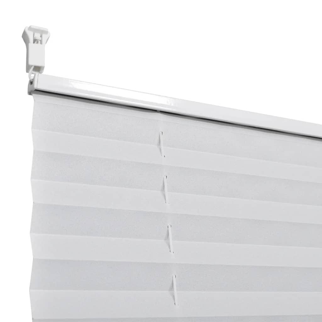 plisse blind 110x125cm white pleated blind. Black Bedroom Furniture Sets. Home Design Ideas
