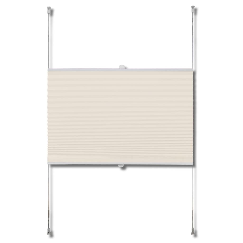 plissee faltrollo rollo plisseerollo 50x100cm creme g nstig kaufen. Black Bedroom Furniture Sets. Home Design Ideas