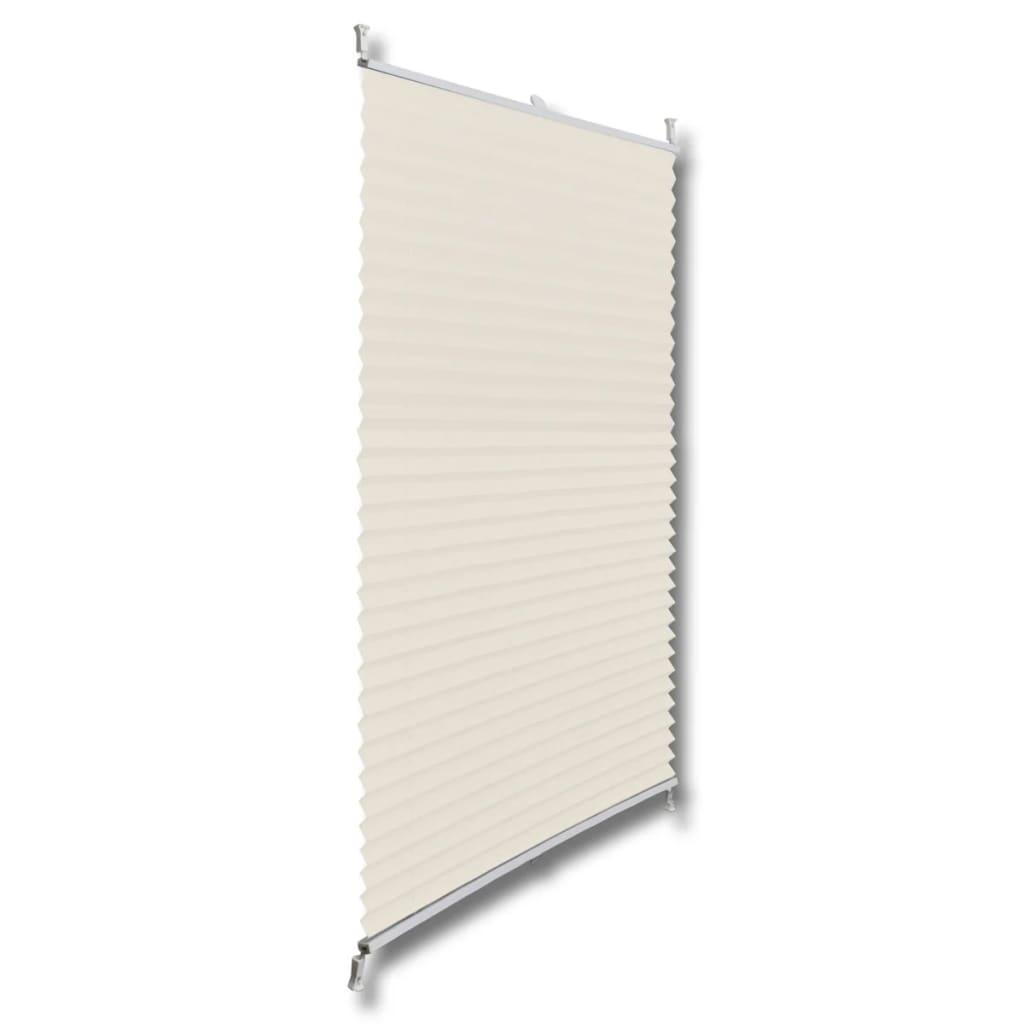 vidaXL-Plise-para-Ventana-Persiana-70x100cm-Crema-Decoracion-Cortinas-ventana