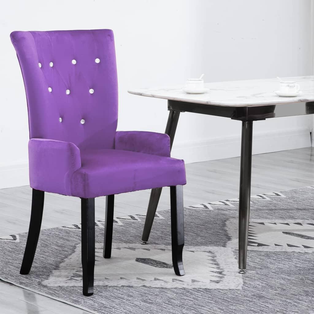 acheter chaise capitonn e velours violet 54 x 56 x 106 cm pas cher. Black Bedroom Furniture Sets. Home Design Ideas