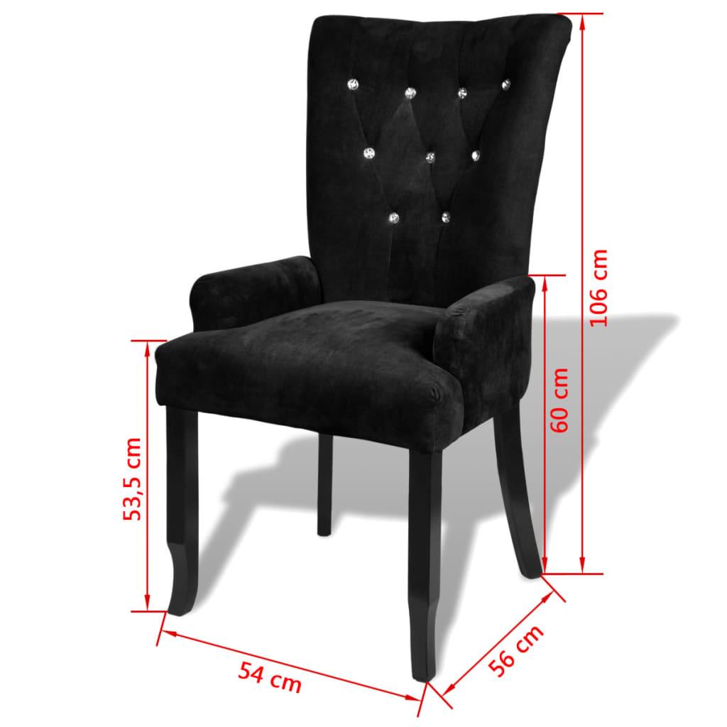 poltrona de jantar madeira preta revestida. Black Bedroom Furniture Sets. Home Design Ideas