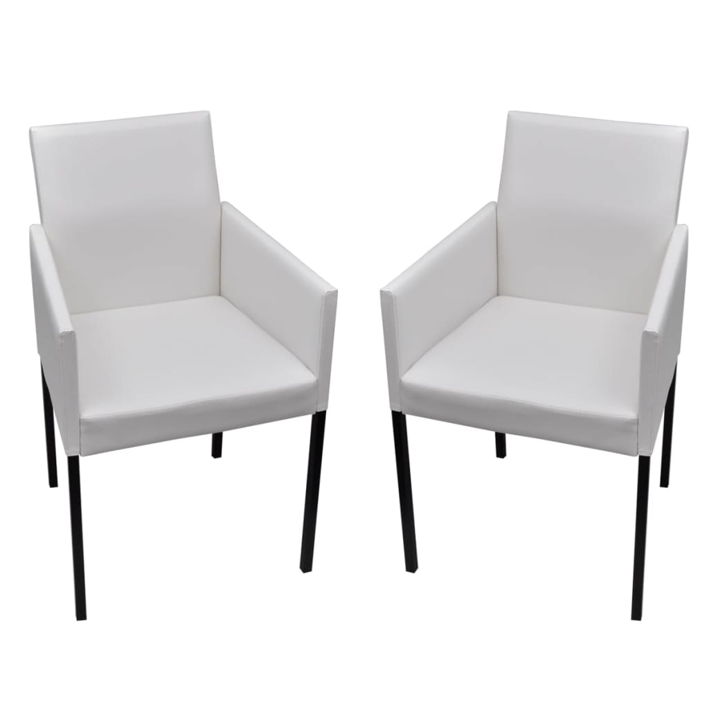 la boutique en ligne 2 chaises de salle manger salon blanches modernes. Black Bedroom Furniture Sets. Home Design Ideas