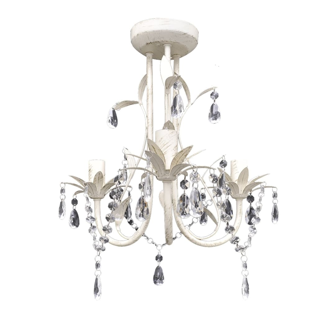 Crystal pendant ceiling lamp chandelier elegant white - Chandelier ceiling lamp ...
