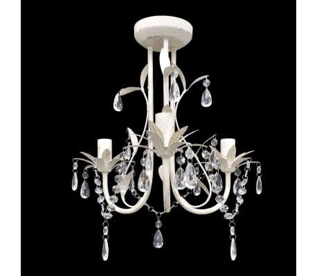 acheter lustre en cristal blanc pas cher. Black Bedroom Furniture Sets. Home Design Ideas