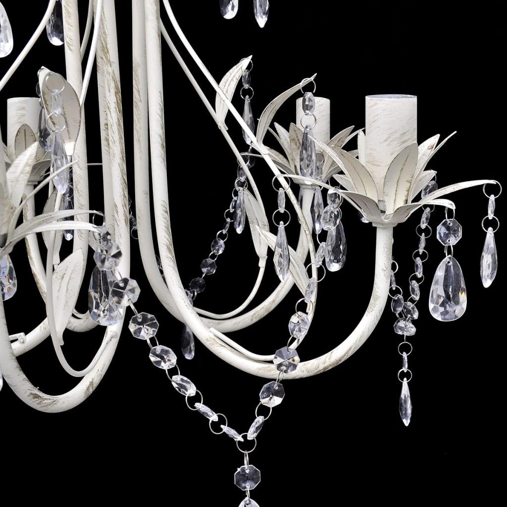 vidaXL-Crystal-Pendant-Ceiling-Lamp-Chandelier-Elegant-5-Bulb-Sockets-Light