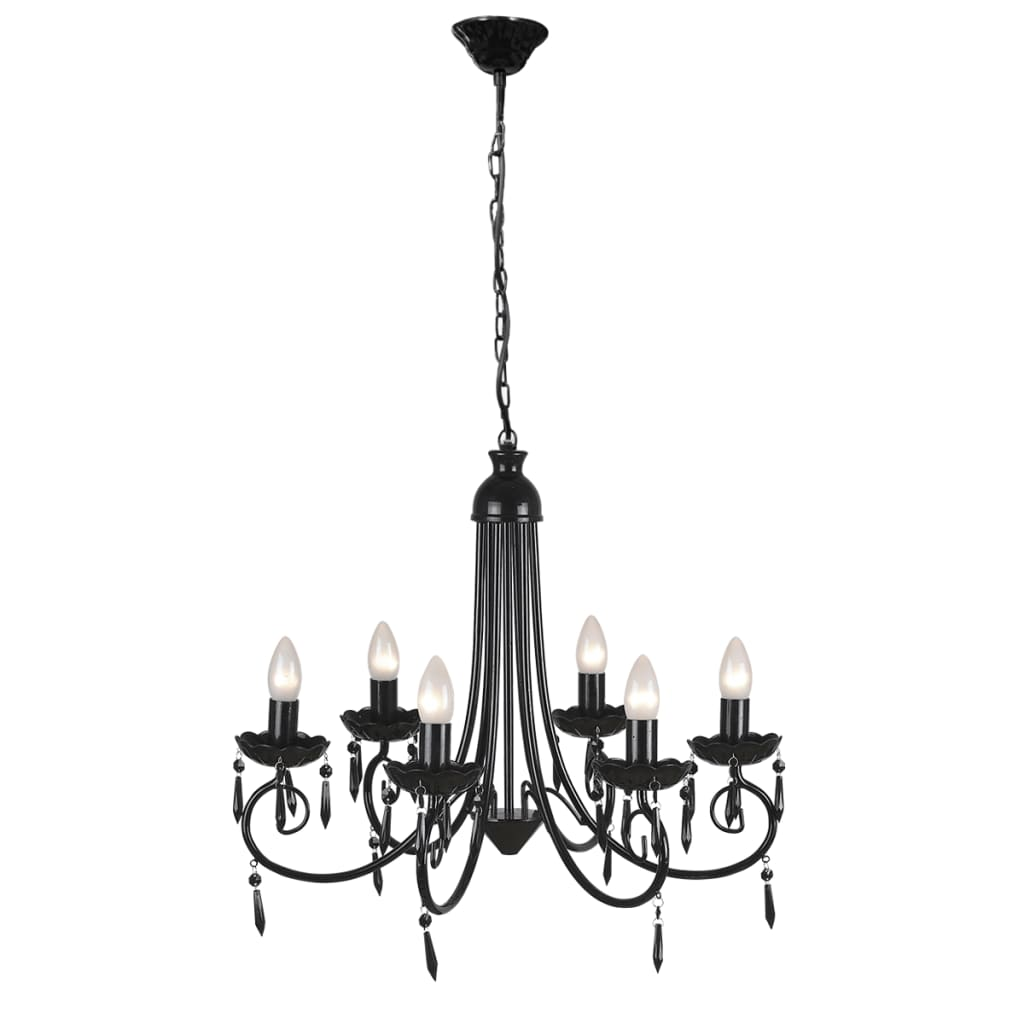 acheter lustre en cristal plafonnier 6 feux lampe. Black Bedroom Furniture Sets. Home Design Ideas