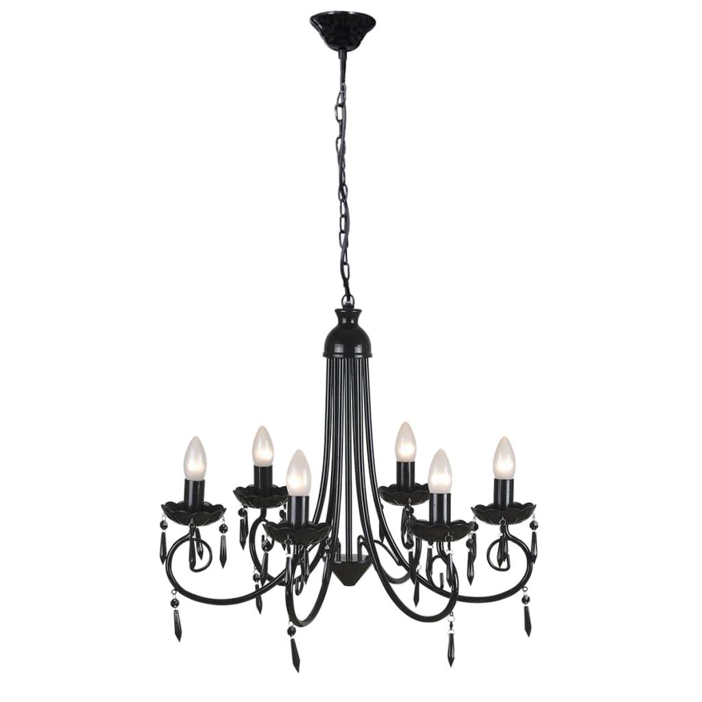 Acheter lustre en cristal plafonnier 6 feux lampe for Lustre en solde