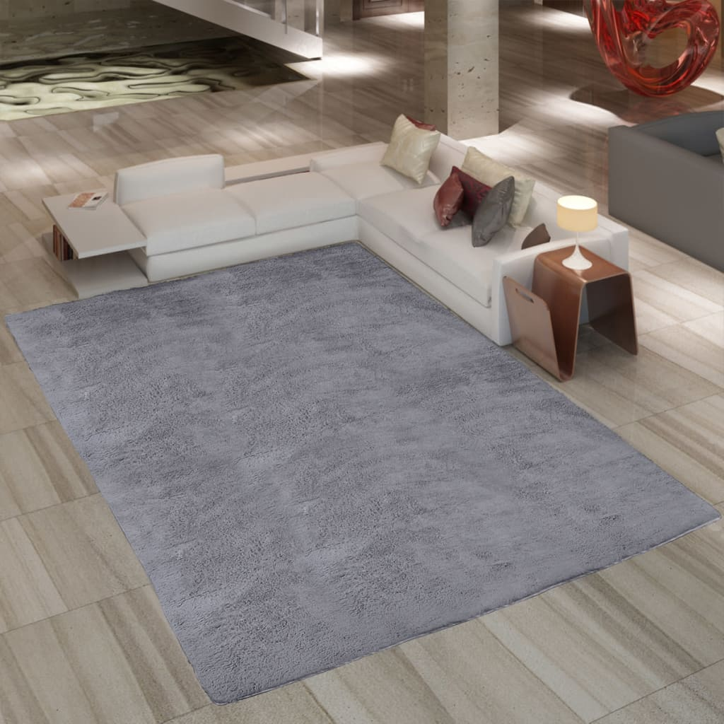 la boutique en ligne tapis poil long gris 80 x 150 cm. Black Bedroom Furniture Sets. Home Design Ideas