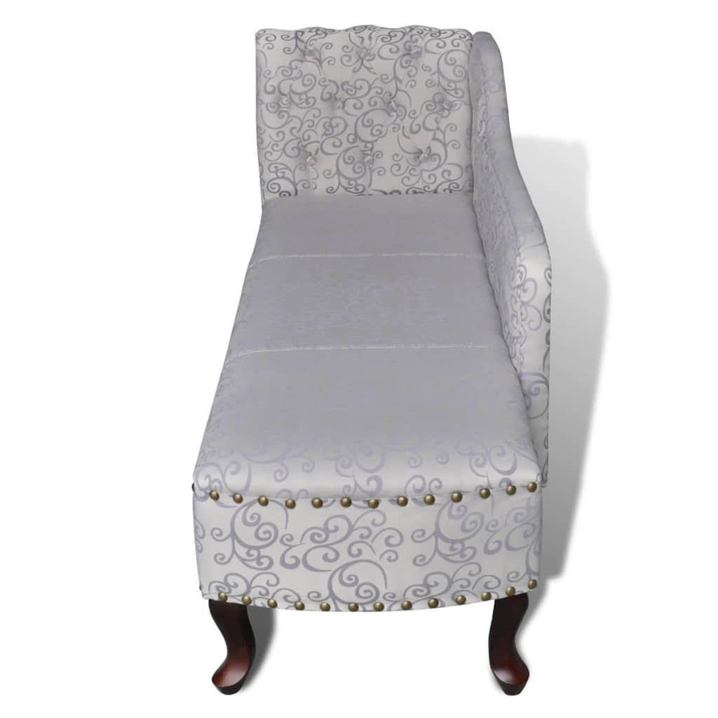 Chesterfield chaise lounge wit for Vidaxl chaise