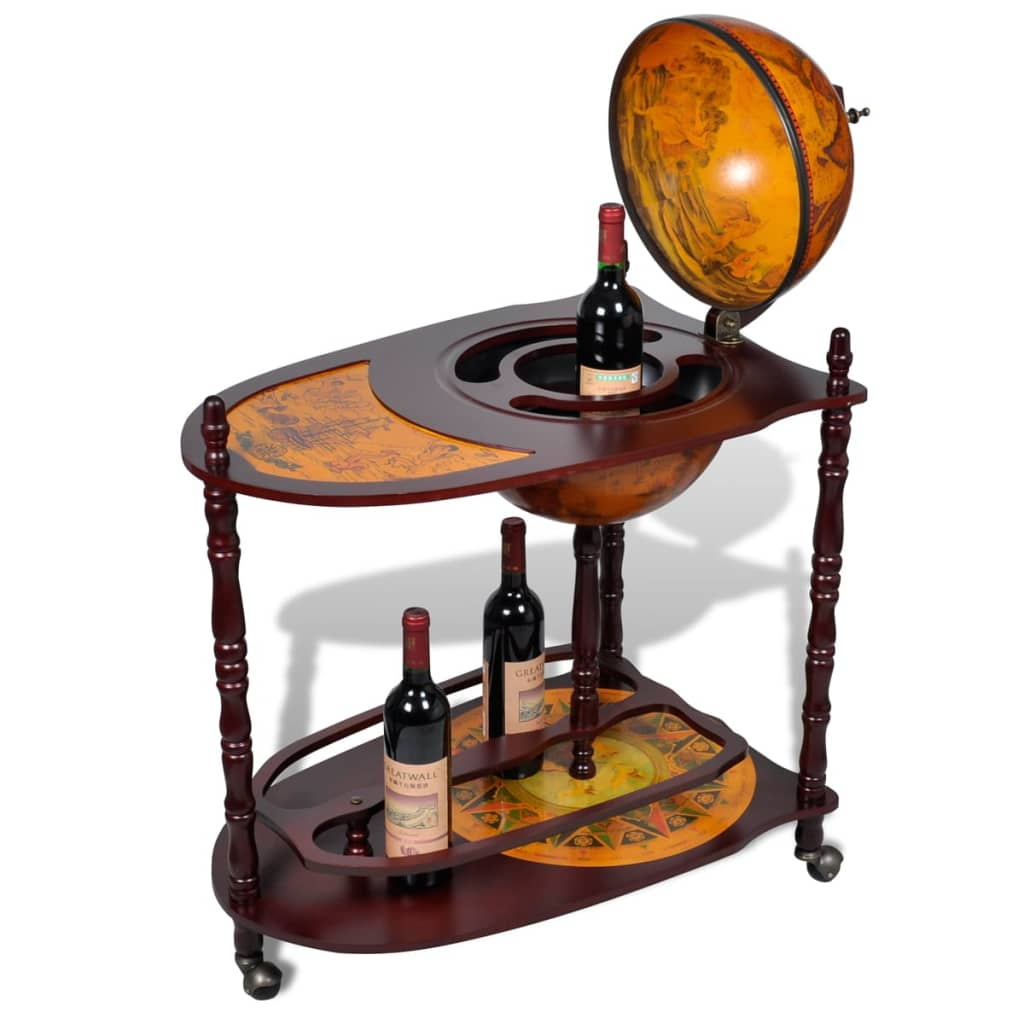Globe Bar Cabinet With Table Trolley 3 6