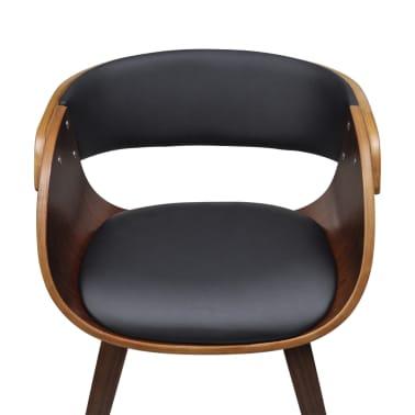 Krzesło jadalniane, brąz, skóra i drewno[3/5]