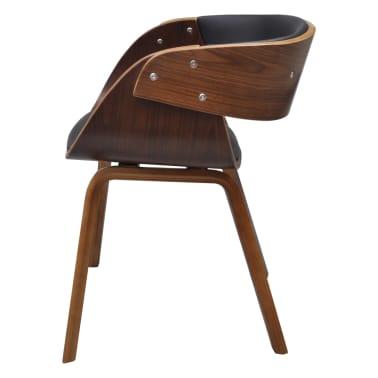 Krzesło jadalniane, brąz, skóra i drewno[4/5]