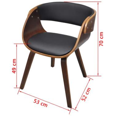 Krzesło jadalniane, brąz, skóra i drewno[5/5]