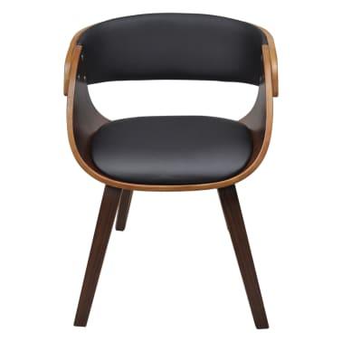 Krzesło jadalniane, brąz, skóra i drewno[2/5]
