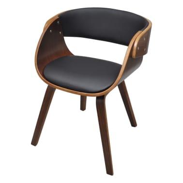 Krzesło jadalniane, brąz, skóra i drewno[1/5]