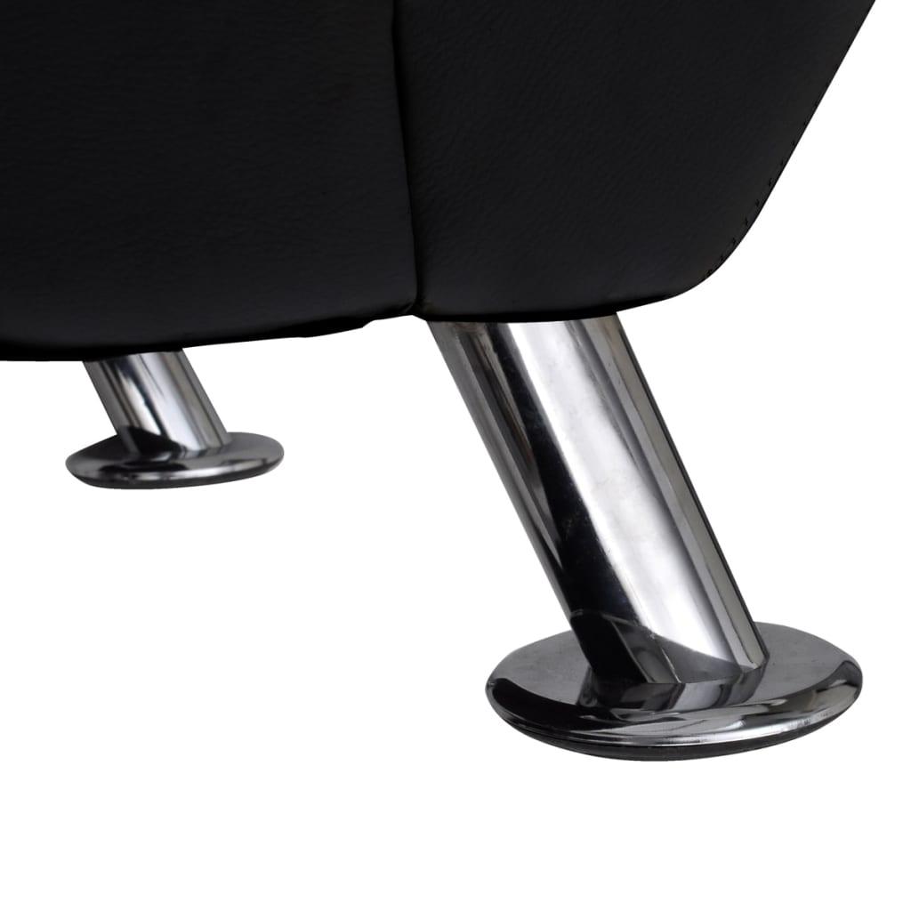 Acheter chaise longue noire avec 2 pieds et appui t te pas for Chaise longue solde