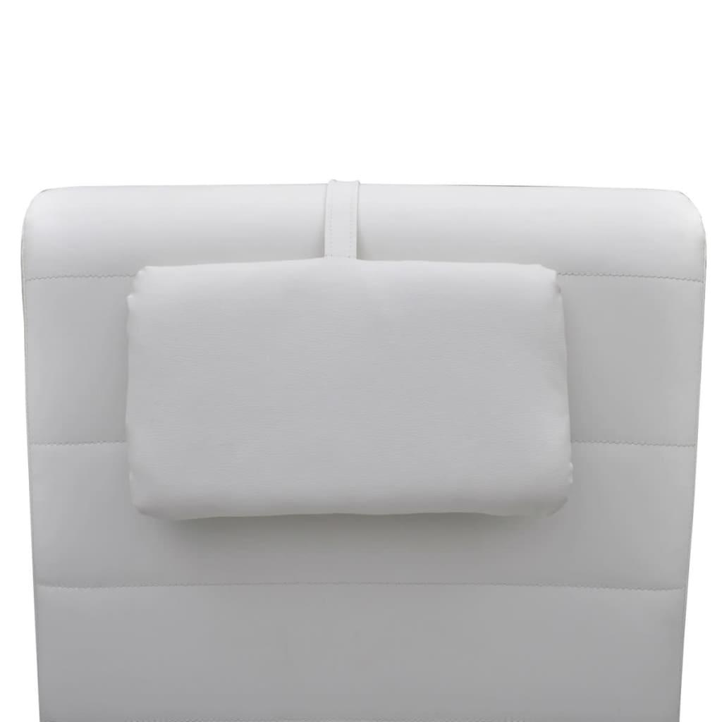 La boutique en ligne chaise longue blanche avec 2 pieds et for Chaise blanche solde
