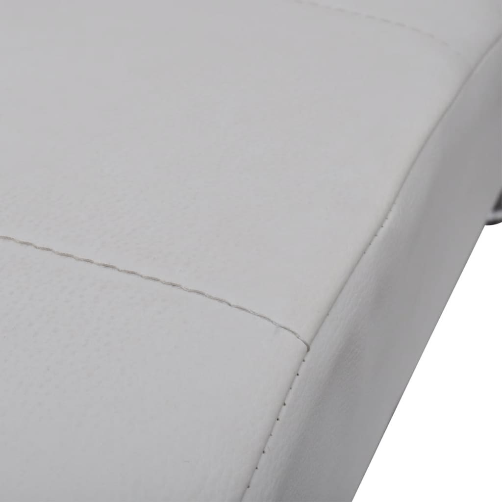 Acheter chaise longue blanche avec 2 pieds et appui t te for Chaise blanche solde