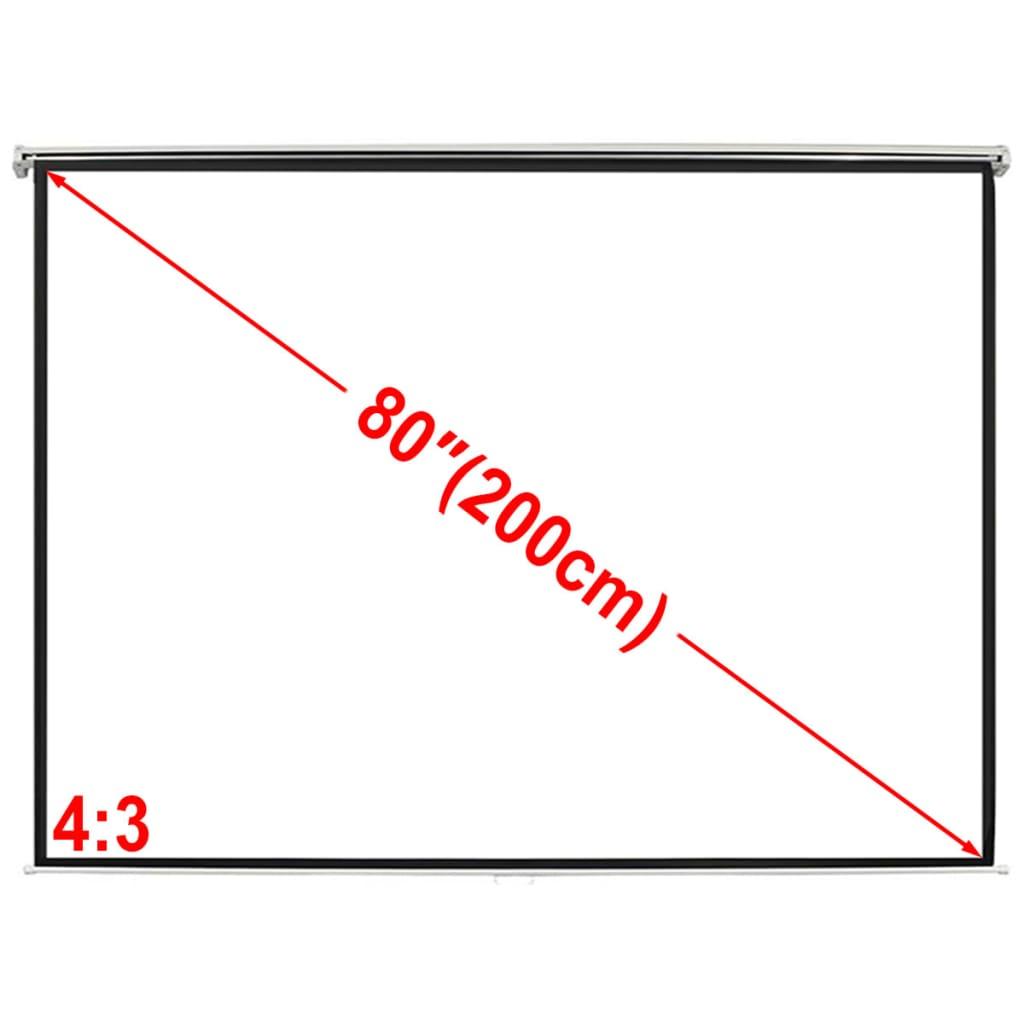 Afbeelding van vidaXL Projectiescherm wit 160 x 123 cm (4:3 formaat)