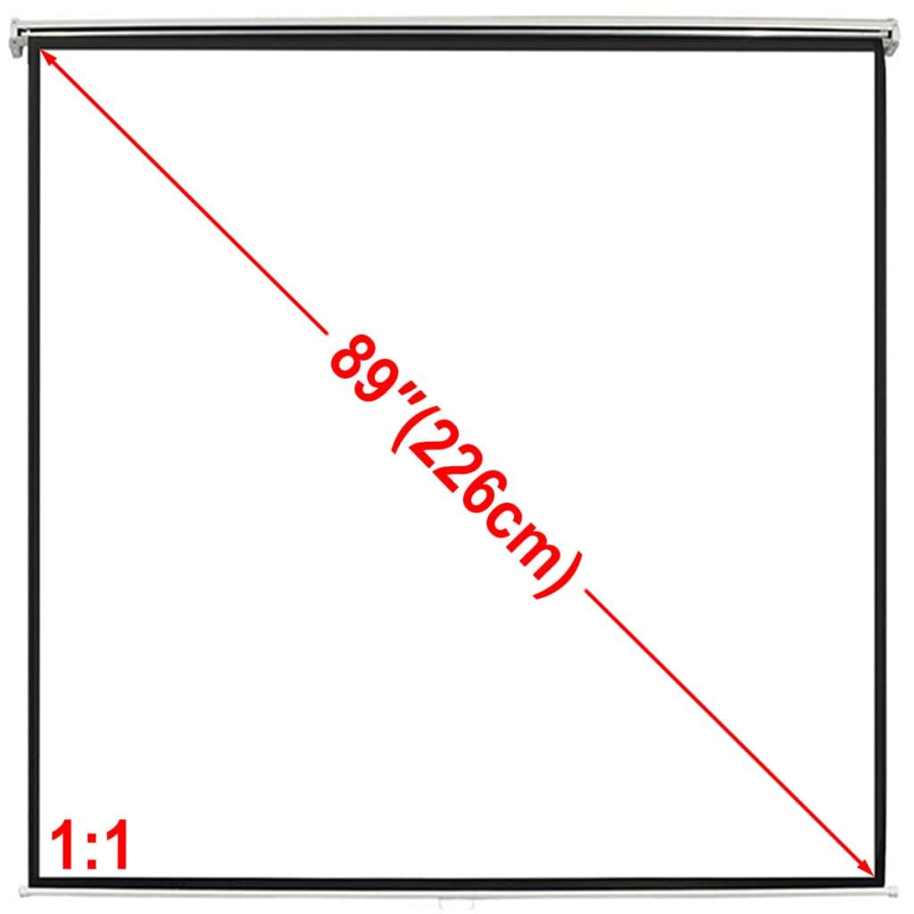 Afbeelding van vidaXL Projectiescherm wit 160 x 160 cm (1:1 formaat)