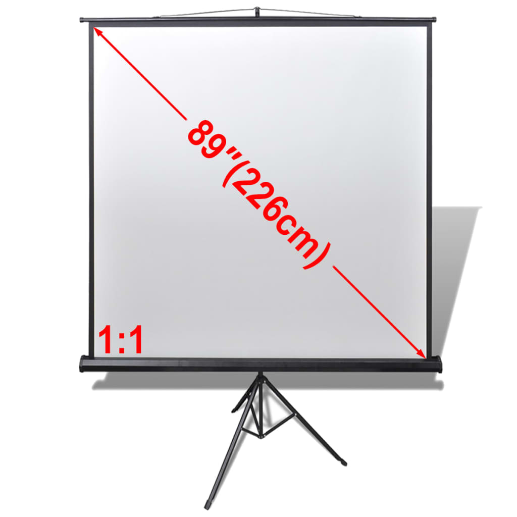 vidaXL al Projection Screen with Height Adjust