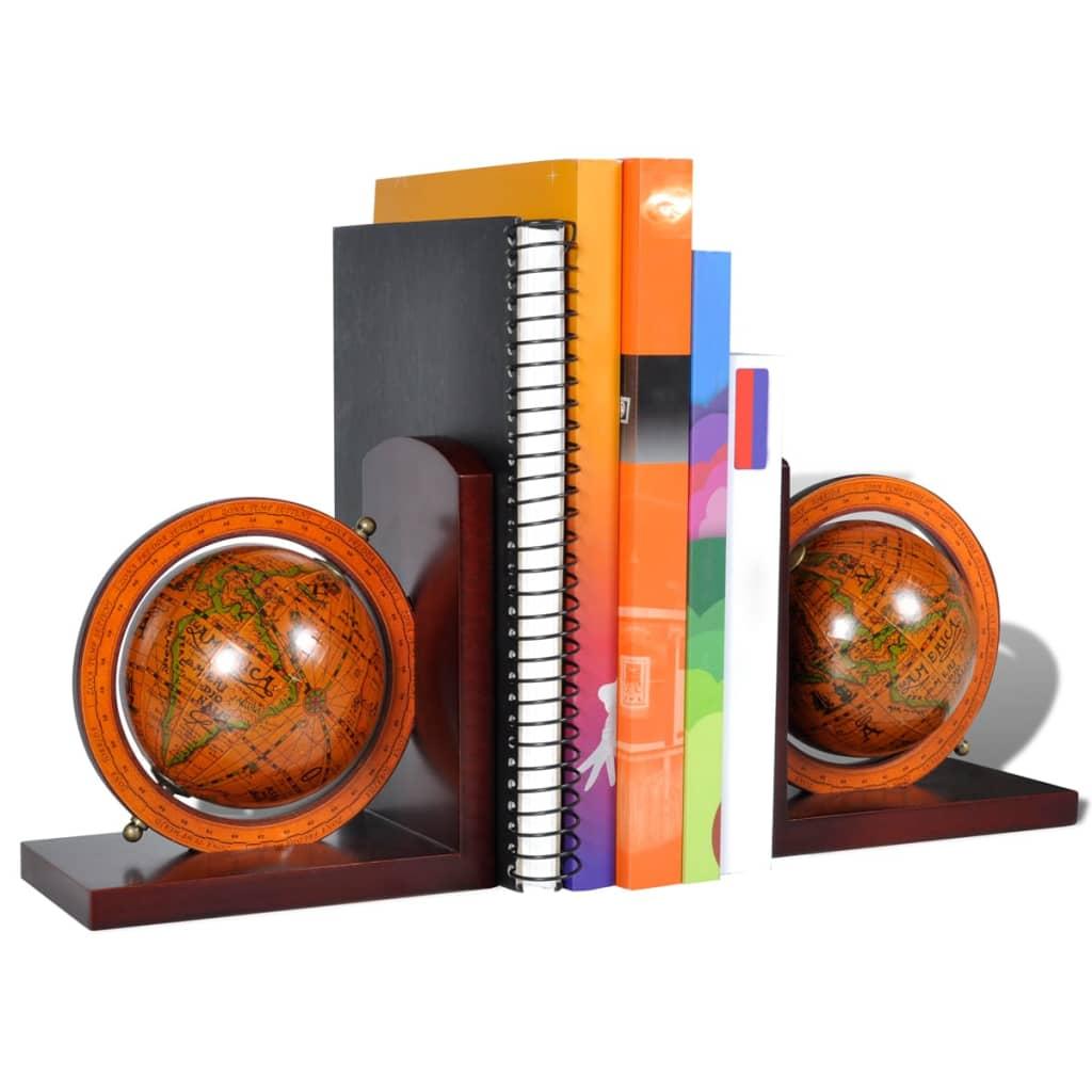 acheter serre livres orn de globe terrestre paire pas cher. Black Bedroom Furniture Sets. Home Design Ideas