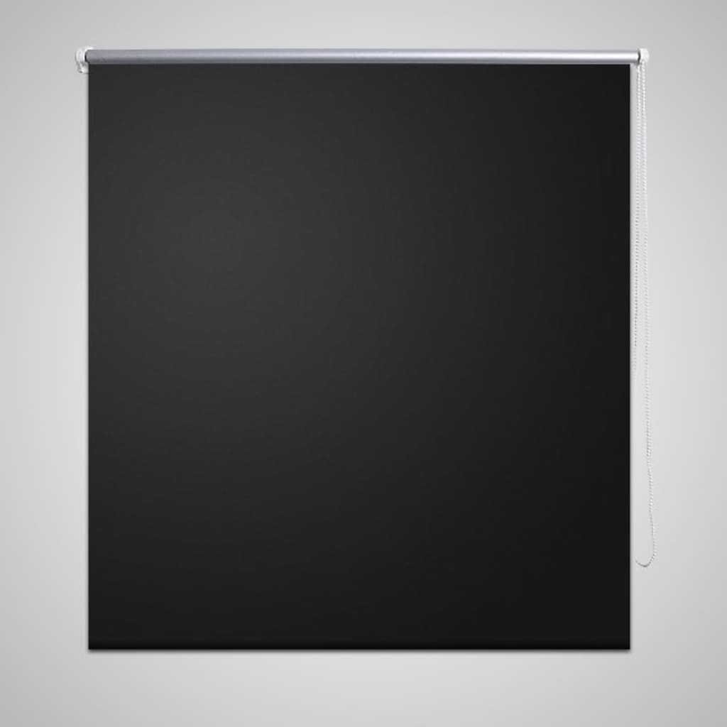 vidaXL-Tenda-rullo-oscurante-rullo-finestra-buio-totale-blackout-40-x-100cm-Nero