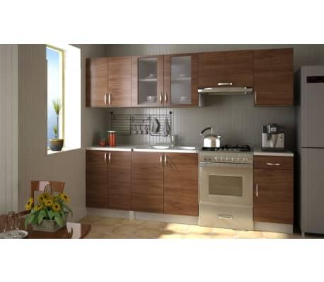 acheter meubles de cuisine quip e neufs en kit brun 2 4 m pas cher. Black Bedroom Furniture Sets. Home Design Ideas